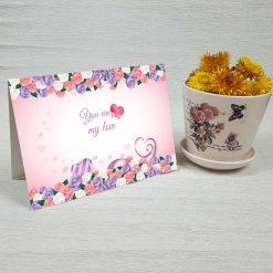 کارت پستال عاشقانه کد 3067 کلاسیک