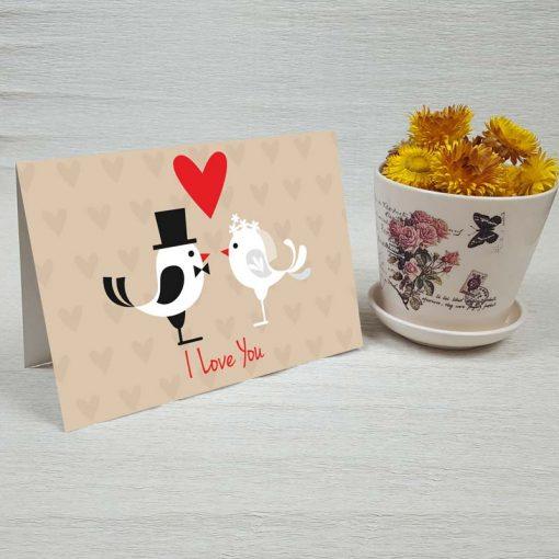کارت پستال عاشقانه کد 3598 کلاسیک