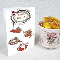 کارت پستال کریسمس کد 3970 کلاسیک