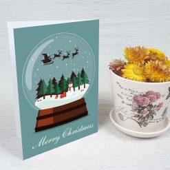 کارت پستال کریسمس کد 3973 کلاسیک