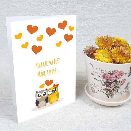 کارت پستال عاشقانه کد 4449 کلاسیک