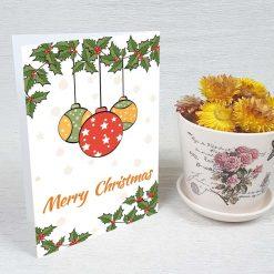 کارت پستال کریسمس کد 4666 کلاسیک