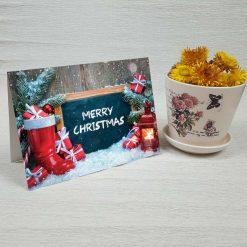 کارت پستال کریسمس کد 4674 کلاسیک