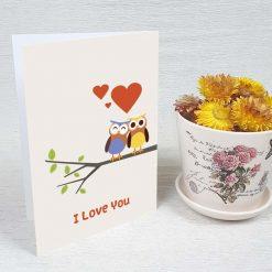 کارت پستال عاشقانه کد 3074 کلاسیک