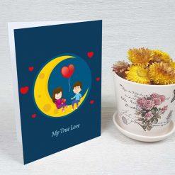 کارت پستال عاشقانه کد 3070 کلاسیک