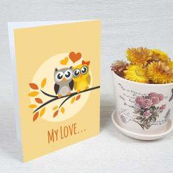 کارت پستال عاشقانه کد 4450 کلاسیک