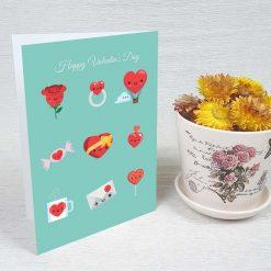 کارت پستال ولنتاین کد 2049 کلاسیک