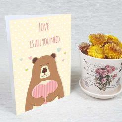 کارت پستال عاشقانه کد 3081 کلاسیک