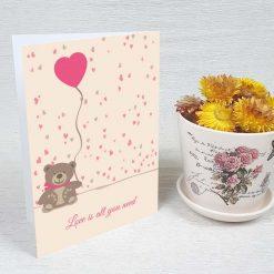 کارت پستال عاشقانه کد 3077 کلاسیک