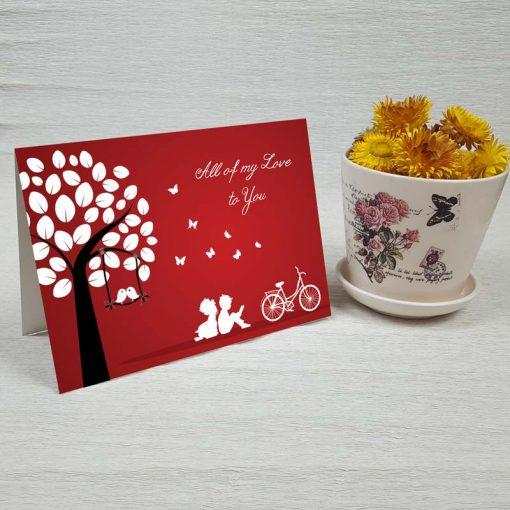 کارت پستال عاشقانه کد 3593 کلاسیک