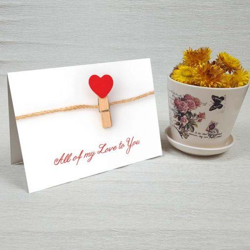 کارت پستال عاشقانه کد 3591 کلاسیک