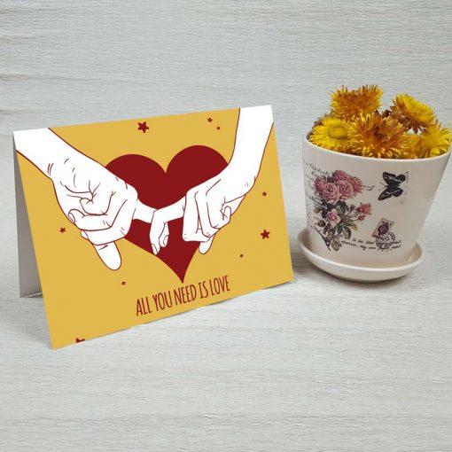 کارت پستال عاشقانه کد 3590 کلاسیک