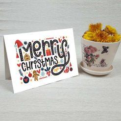 کارت پستال کریسمس کد 4678 کلاسیک