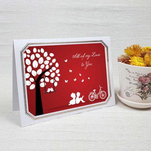 کارت پستال عاشقانه کد 3593 لوکس
