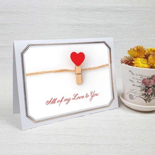 کارت پستال عاشقانه کد 3591 لوکس
