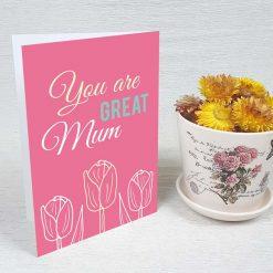 کارت پستال روز مادر کد 2164 کلاسیک