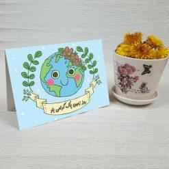 کارت پستال زمین پاک کد 3808 کلاسیک