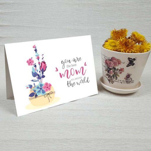 کارت پستال روز مادر کد 4121 کلاسیک