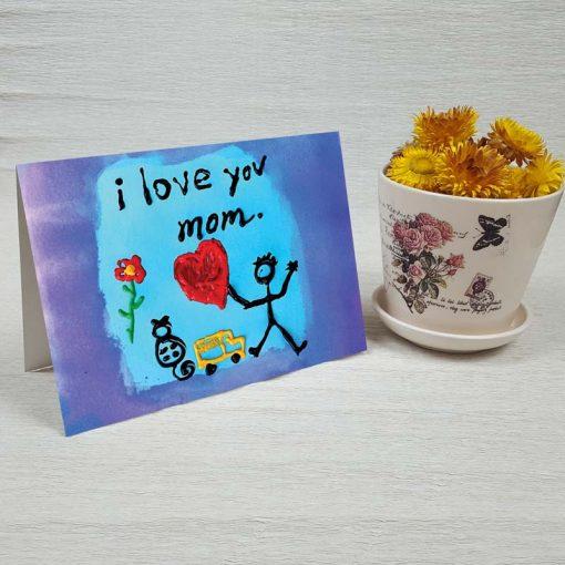کارت پستال روز مادر کد 4725 کلاسیک